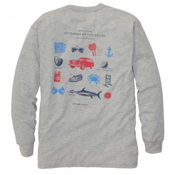 Defender of The South- Heather Grey Long Sleeve